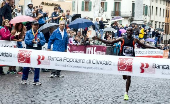 arrivo Maratonina di Udine 2016