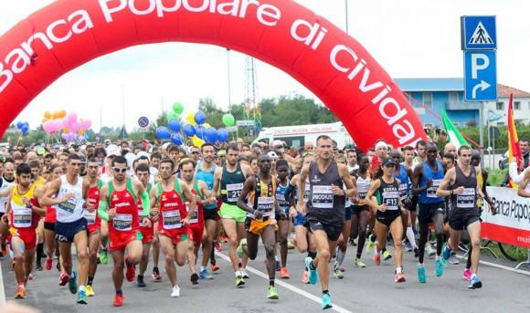 Maratonina Udine partenza Cividale 2017