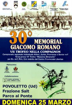 30° cross Memorial Giacomo Romano 2018