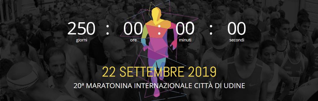 250 giorni alla ventesima Maratonina di Udine 22 settembre 2019
