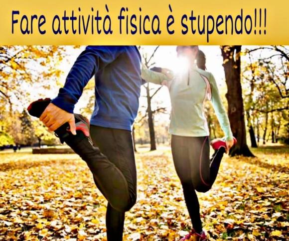 Fare                             attività fisica è stupendo!