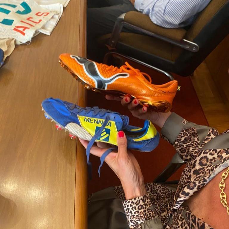 Le scarpe di Mennea e di Bolt