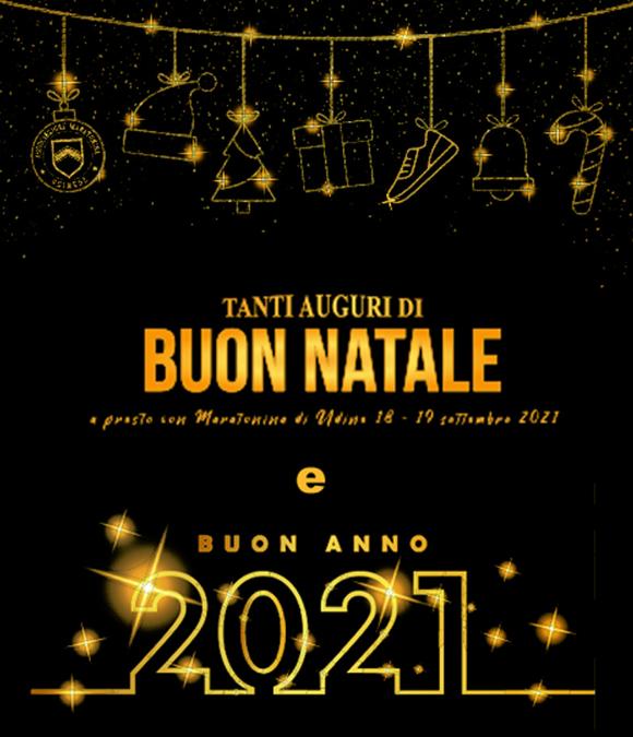 Tanti auguri di Buon Natale | a presto con Maratonina di Udine 18-19 settembre 2021